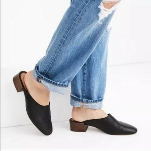 Madewell Black Leather The Alicia Mule 9